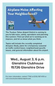 Truckee Tahoe Airport meeting at Glenshire Clubhouse