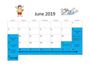 June 2019 Pool hours